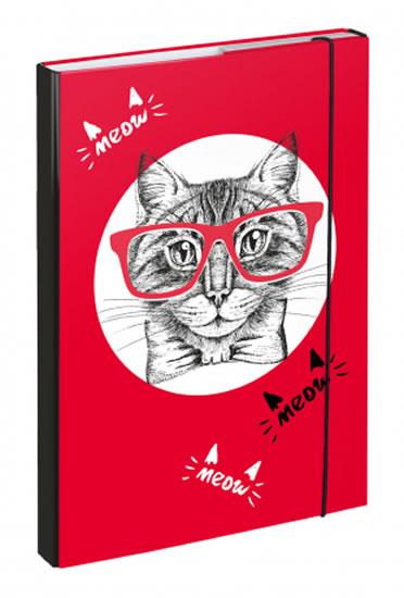 BAAGL Desky na školní sešity A4 Kočka