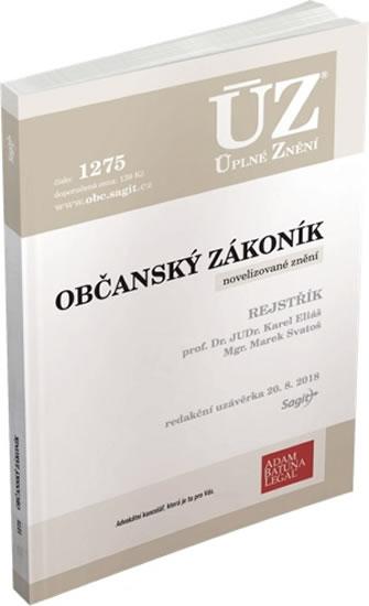 ÚZ 1275 OBČANSKÝ ZÁKONÍK K 20/8/18