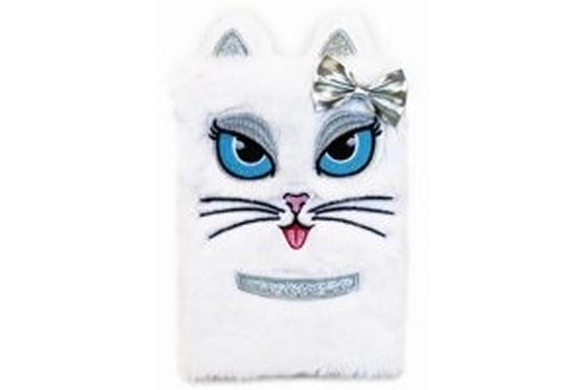 Plyšový deník - Bílá kočka