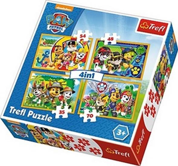 Puzzle Tlapková patrola Vždy včas - 4v1