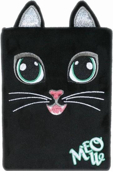 Plyšový deník - Černá kočka
