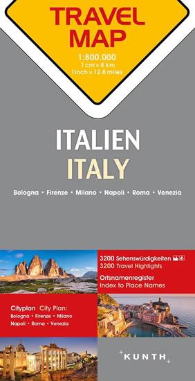 ITÁLIE 1:800 000 AUTOMAPA (TRAVELMAP KUNTH)