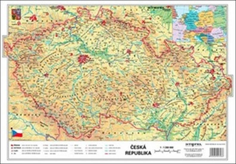 18 Cr Fyzicka Kraje Mapa A3 Neuveden Knizniklub Cz