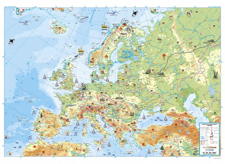 18 Nastenna Detska Mapa Evropy V Tubusu 1330x970mm Neuveden
