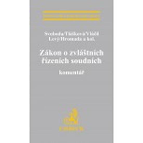 ZÁKON O ZVLÁŠTNÍCH ŘÍZENÍCH SOUDNÍCH EKZ165 /C.H.BECK
