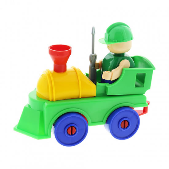 Stavebnice BAUER: Lokomotiva - malý set