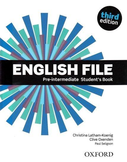 English File 3rd edition Pre-Intermediate Student´s book (without iTutor CD-ROM)
