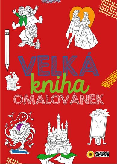 440-1 VELKÁ KNIHA OMALOVÁNEK - ČERVENÁ -