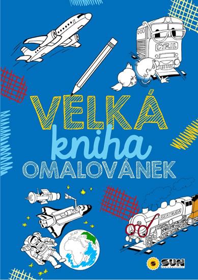 Velká kniha omalovánek - modrá