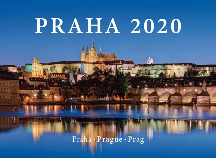 Kalendář nástěnný 2020 Prague - šířka