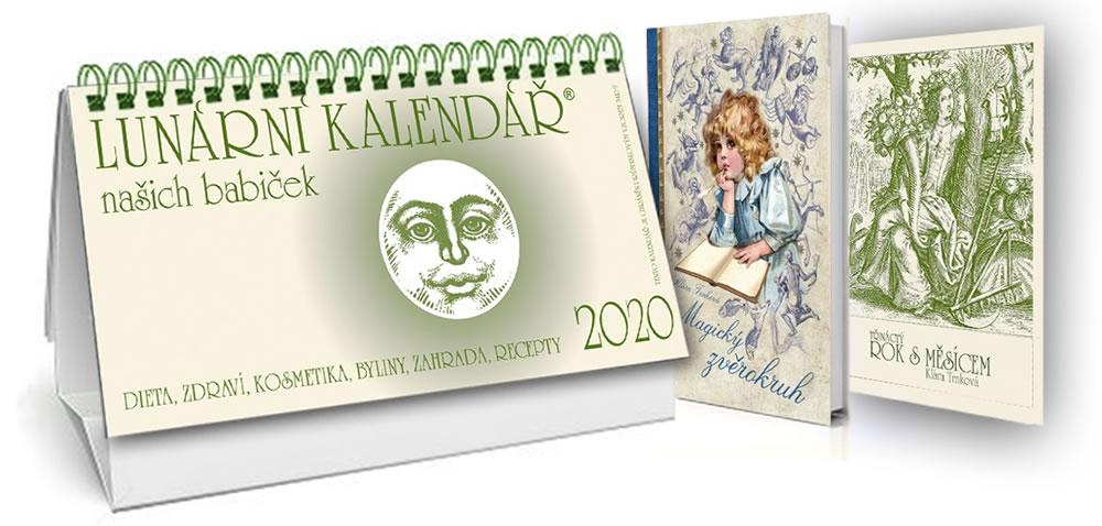 Kalendář 2020 - Lunární + Magický zvěrokruh + Třináctý rok s Měsícem