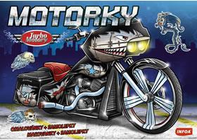 Turbo motory Motorky - omalovánky a samolepky