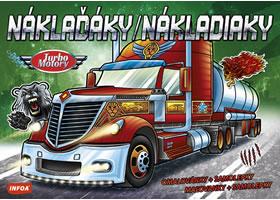 Turbo motory Náklaďáky - omalovánky a samolepky