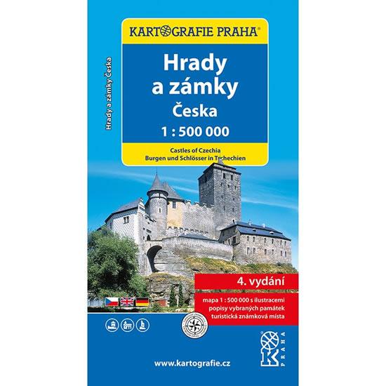 HRADY A ZÁMKY ČESKA 1:500 000 AUTOMAPA