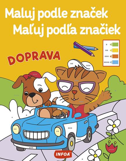 DOPRAVA - MALUJ PODLE ZNAČEK / MAĽUJ POD