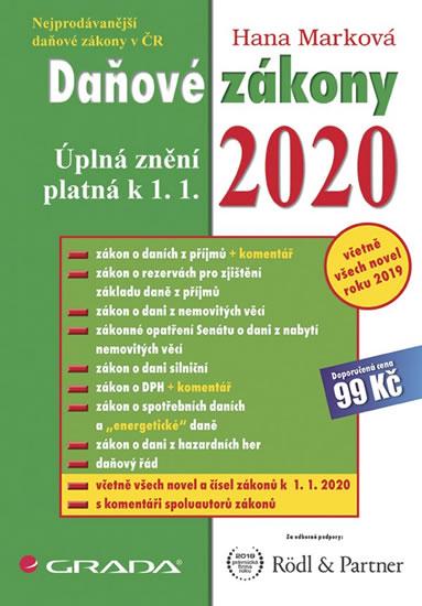 DAŇOVÉ ZÁKONY 2020 UPLNÁ ZNĚNÍ PLATNÁ K 1.1.2020