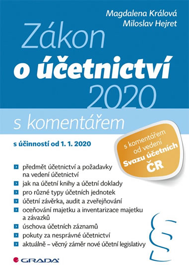 ZÁKON O ÚČETNICTVÍ S KOMENTÁŘEM 2020
