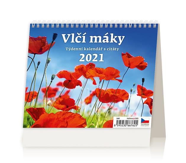 KALENDÁŘ 2021 STOL: VLČÍ MÁKY,171X139
