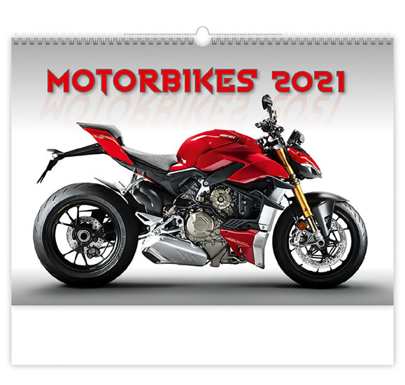 2021 MOTORBIKES NÁSTĚNNÝ