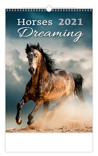 2021 HORSES DREAMING NÁSTĚNNÝ