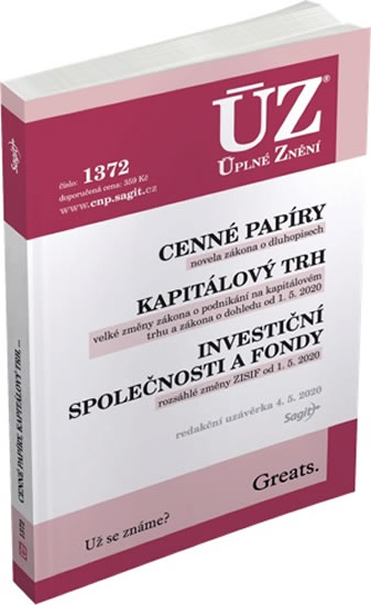 ÚZ 1372 CENNÉ PAPÍRY, KAPITÁLOVÝ TRH, INVEST.SPOL. A FONDY