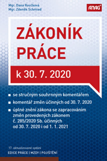 ZÁKONÍK PRÁCE K 30.7.2020