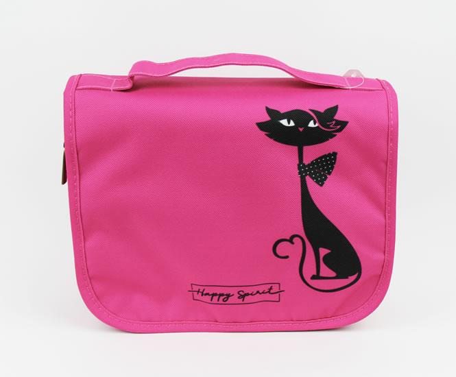 Cestovní kosmetická taška Kočka - Happy Spirit Design