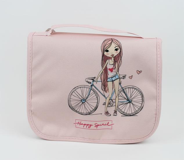 Cestovní kosmetická taška Dívka - Happy Spirit Design