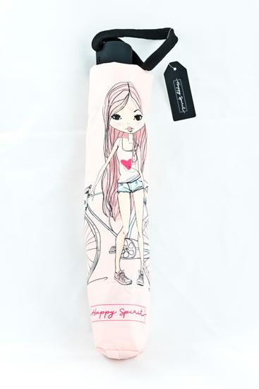 Deštník vystřelovací skládací Dívka - Happy Spirit Design