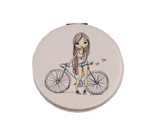 Zrcátko kompaktní  Dívka - Happy Spirit Design