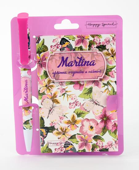 Magnetický bloček s propiskou MARTINA