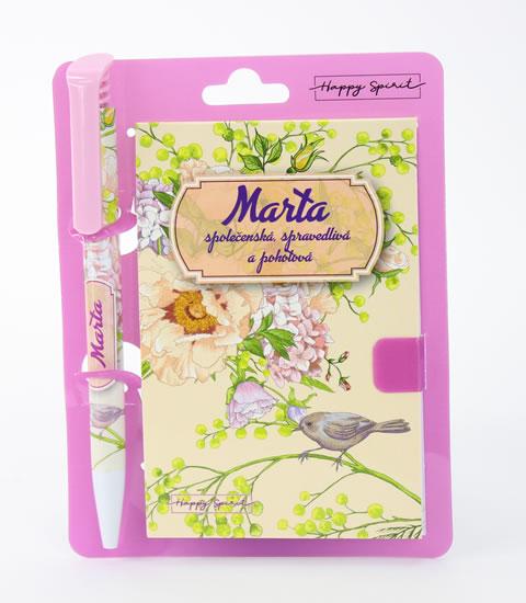 Magnetický bloček s propiskou MARTA