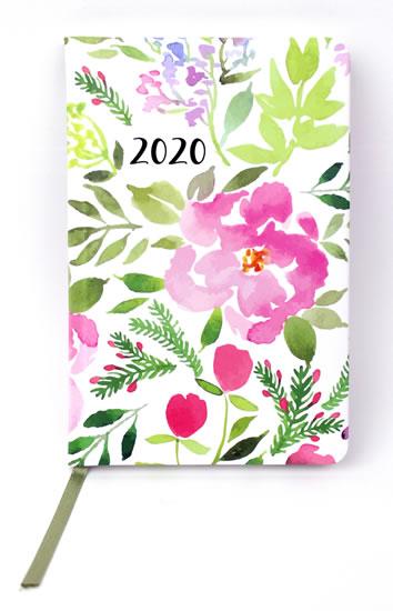Diář 2020: Akvarelové květy/ týdenní S
