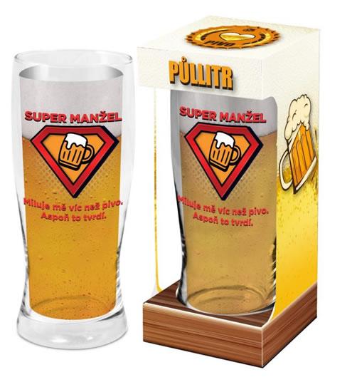 Půllitr Super manžel - Máme rádi pivo