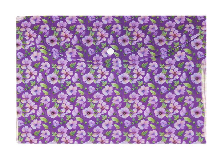 Pouzdro na dokumenty A4: Květiny