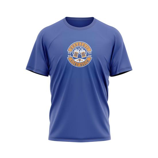 Tričko Dodržuji pitný režim - pánské L modré - Na sebe