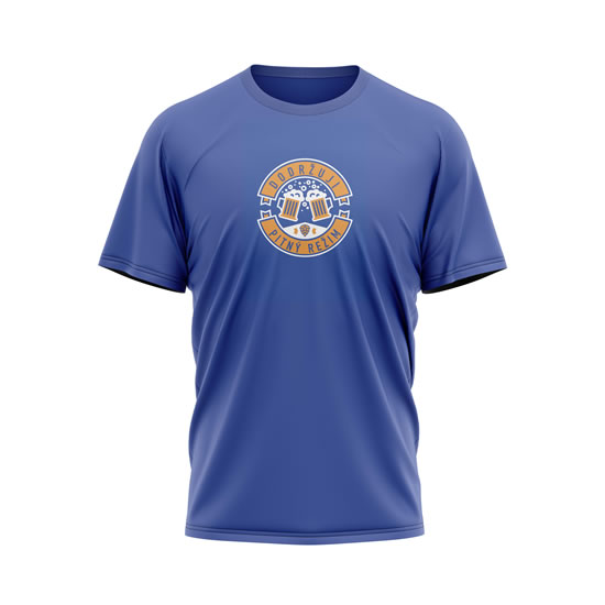 Tričko Dodržuji pitný režim - pánské M modré - Na sebe