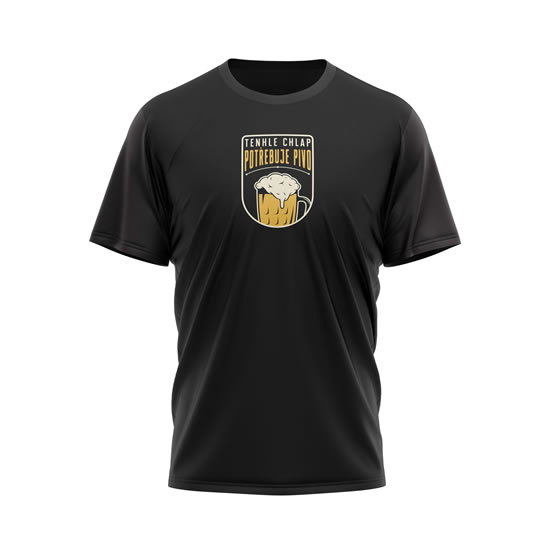 Tričko Tenhle chlap potřebuje pivo - pánské XL černé - Na sebe