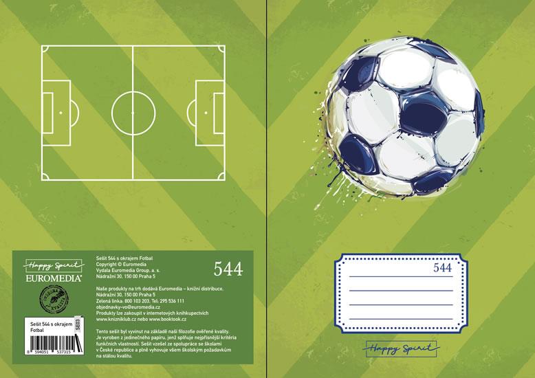 Školní sešit 544 s okrajem Fotbal - Sešity