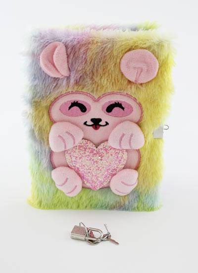 Blok plyšový se zámečkem Růžové zvířátko - Bloky a bločky