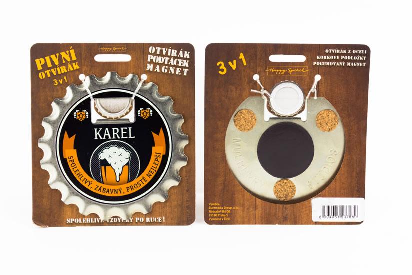 Pivní otvírák Karel
