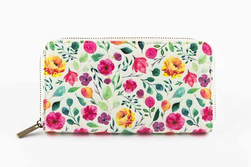 Peněženka velká Květiny - Designové peněženky