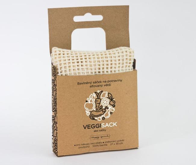 Bavlněný sáček na potraviny síťovaný větší - Ekosáčky na potraviny VEGGI SACK