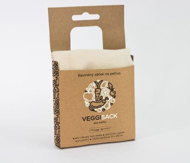 Bavlněný sáček na pečivo - Ekosáčky na potraviny VEGGI SACK