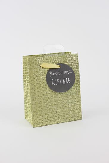 Taška small Glitter zlatá - Dárkové tašky