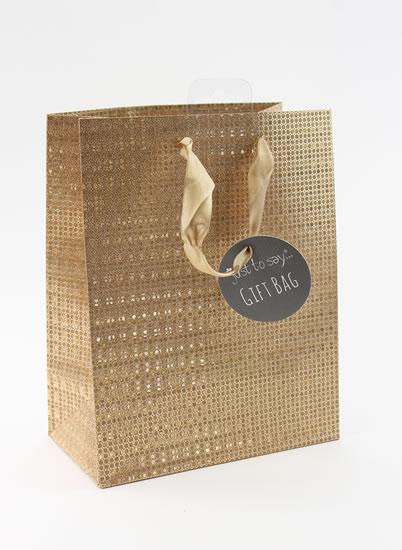 Taška medium Glitter bronzová - Dárkové tašky