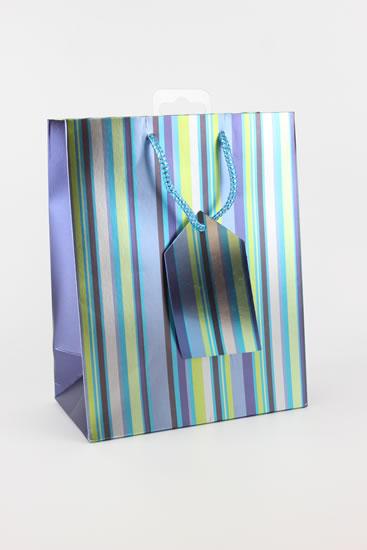 Taška medium Proužky modrá - Dárkové tašky