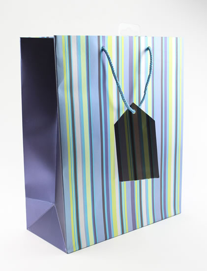 Taška large Proužky modrá - Dárkové tašky