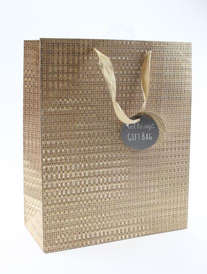 Taška large Glitter bronzová - Dárkové tašky