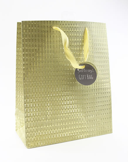 Taška large Glitter zlatá - Dárkové tašky